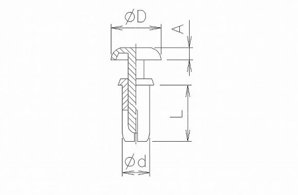 nylon rivet p-type